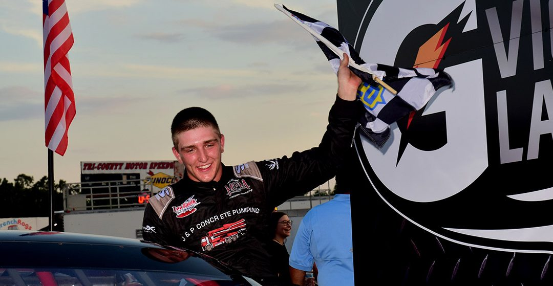 Nolan Pope Sweeps Twin Races At Tri-County Motor Speedway