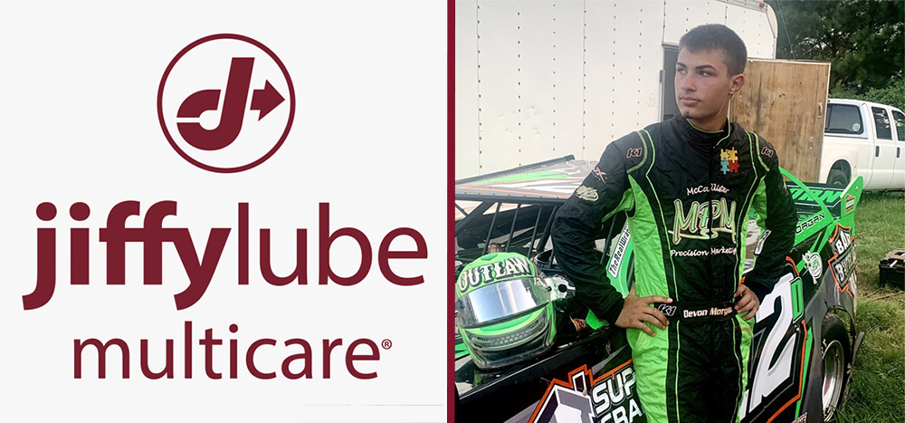 Devon Morgan Welcomes Jiffy Lube Multicare As Primary Sponsor